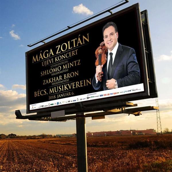 Koncert hirdetés óriásplakáton